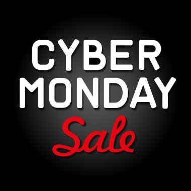 Cyber Monday Background with Sale Tag. Vector
