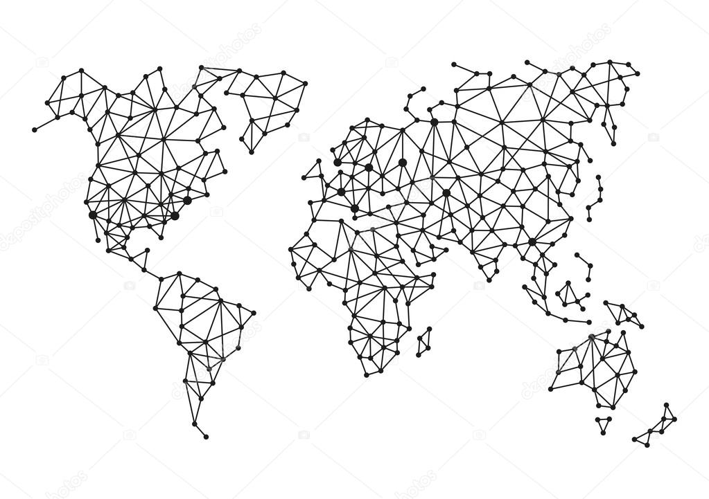 Triangle polygonal style world map on white background vector triangle polygonal style world map on white background vector illustration vector by in8finity gumiabroncs