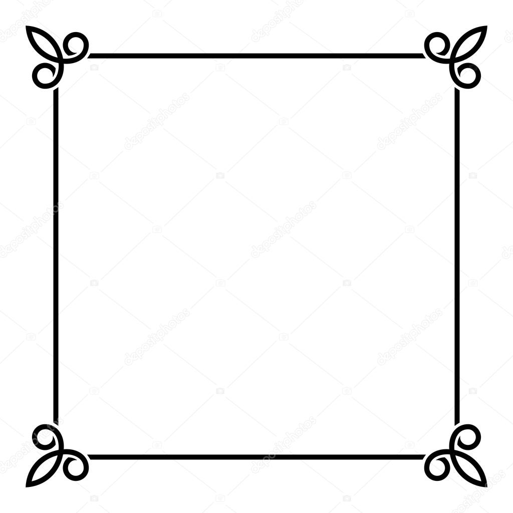 Black Border Vintage Frame On White Background Vector Illustration By In8finity