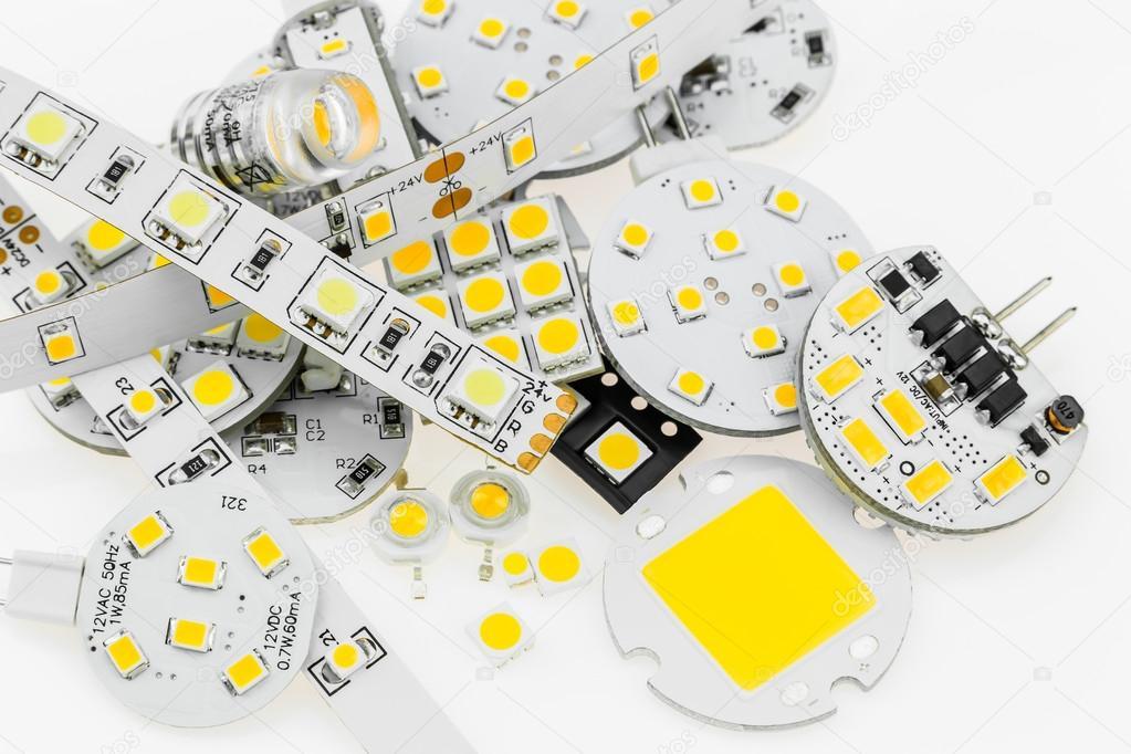 Mehrere G4 Led Lampen Mit Verschiedenen Elektronik Und Led Streifen