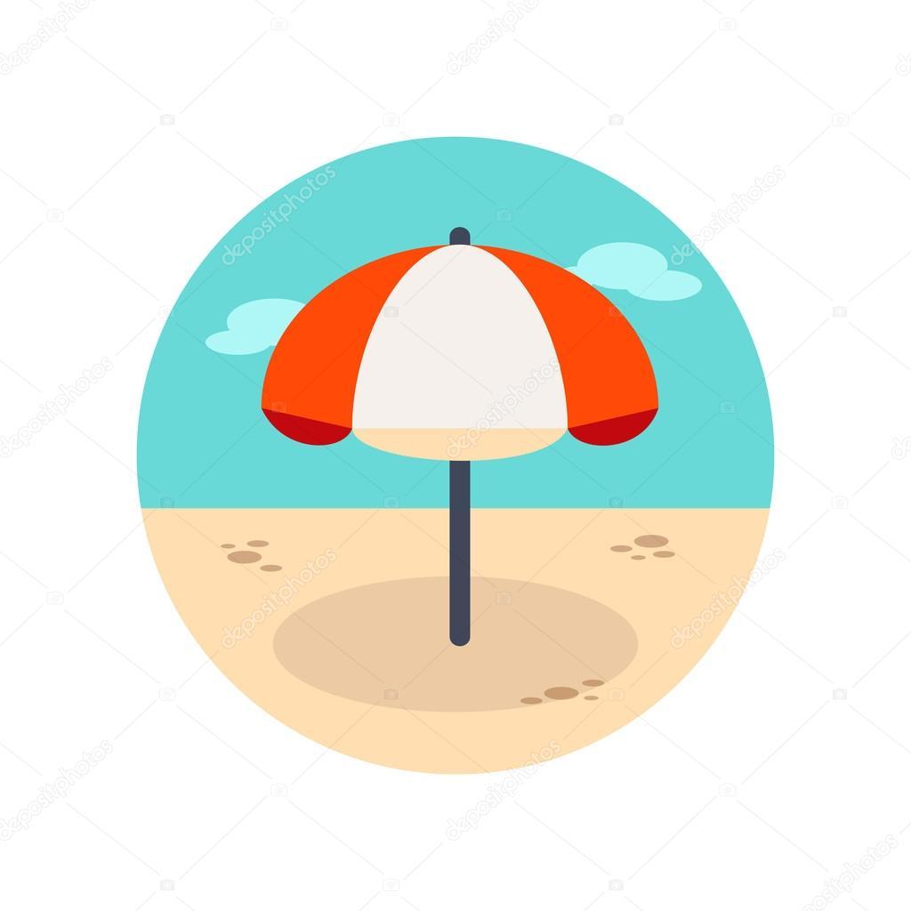 Sonnenschirm strand clipart  Strand Sonnenschirm-Symbol. Sommer. Urlaub — Stockvektor © ayra ...