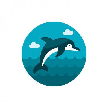 Dolphin icon. Summer. Vacation