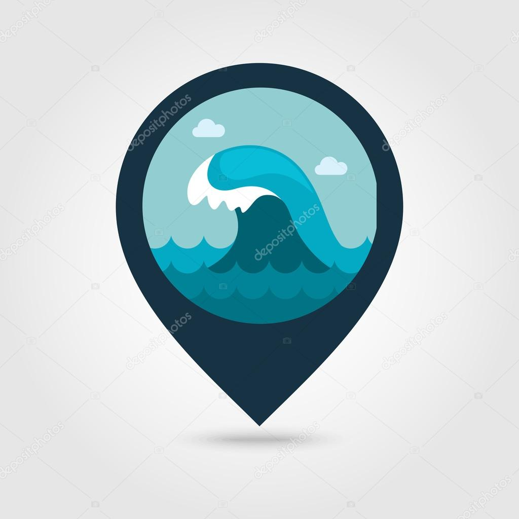 ocean wave pin map icon summer vacation stock vector c ayra 114917170 https depositphotos com 114917170 stock illustration ocean wave pin map icon html