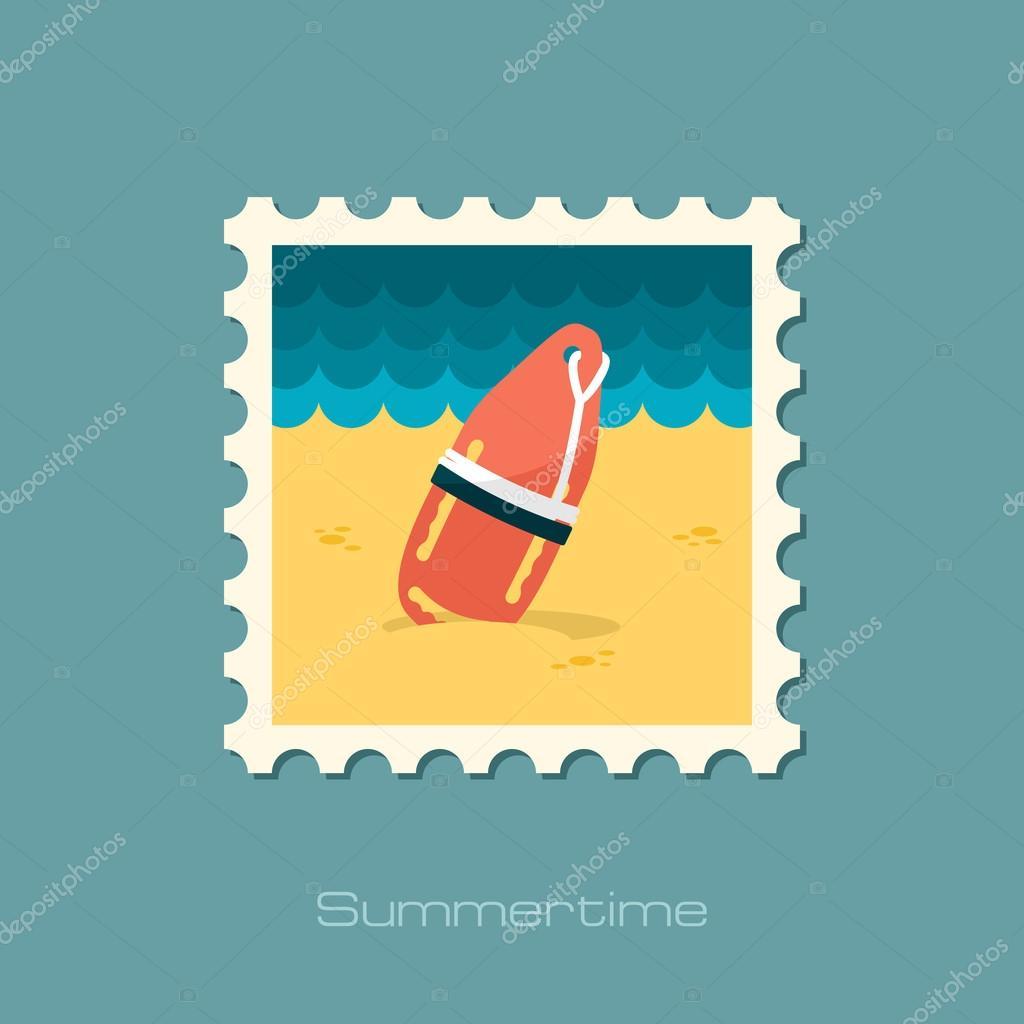 30232c03777c Torpedo rescue lifeguard buoy flat stamp — Stock Vector © ayra  78206688