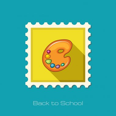 Art palette flat stamp