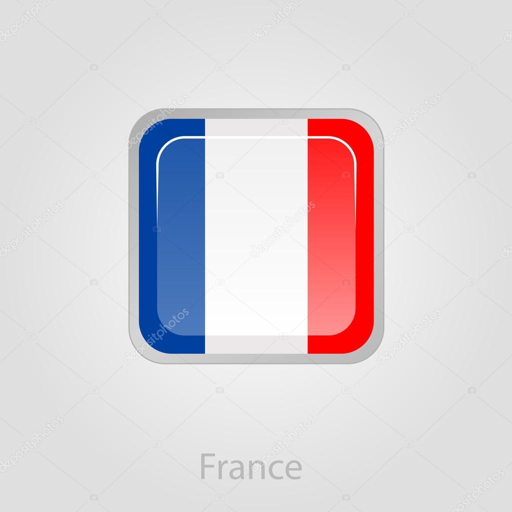 フランス国旗ボタンベクトル イラスト ストックベクター Ayra
