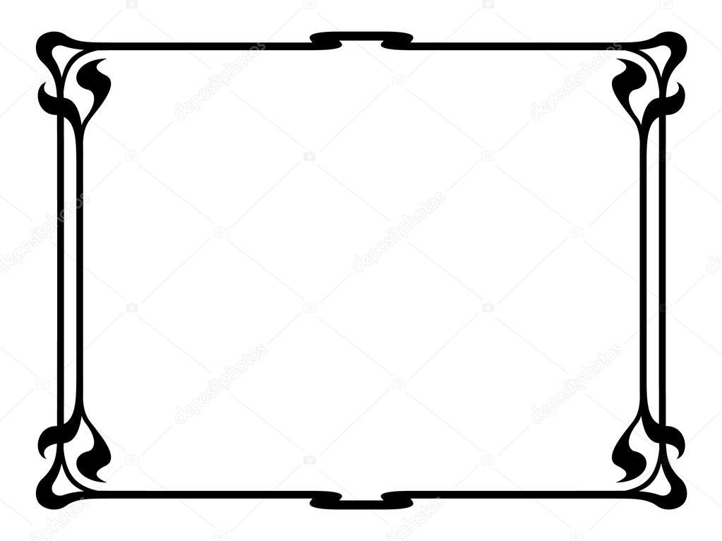 Stock Illustration Art Nouveau Black Ornamental Decorative likewise Borte in addition File Gate of Castel B C3 A9ranger  designed by Hector Guimard further Royalty Free Stock Image Empty Frame Image20671036 additionally Royalty Free Stock Images Abstract Floral Pattern Green Frame Image23388089. on art deco border