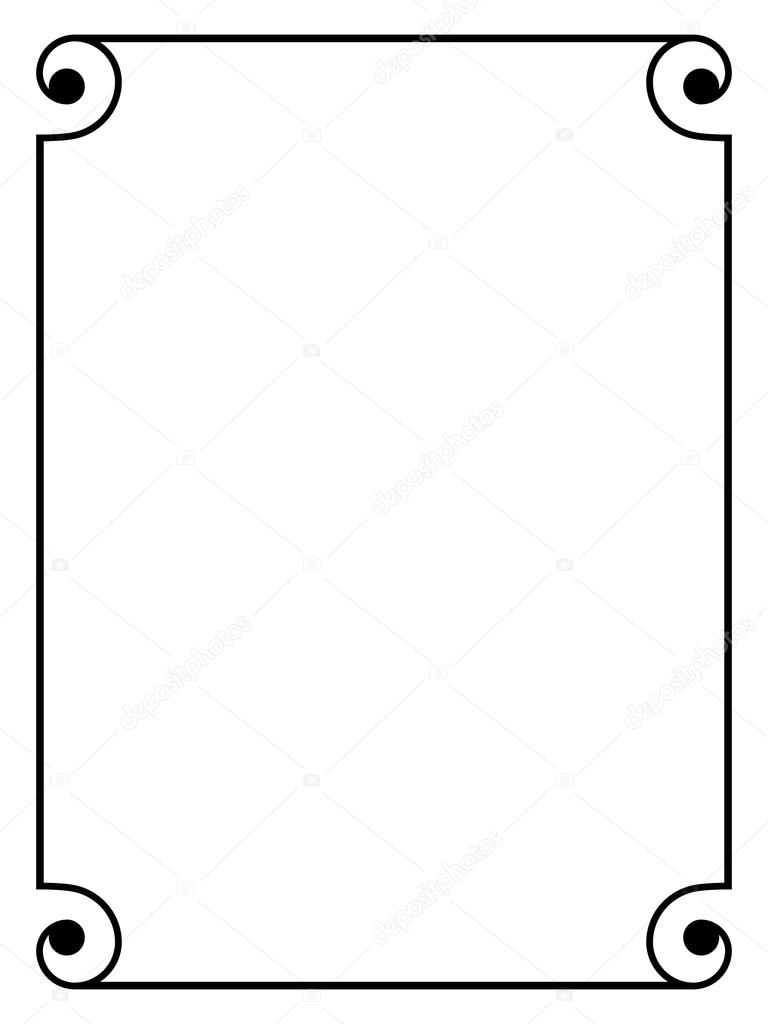 marco decorativo ornamental negro simple — Vector de stock © 100ker ...