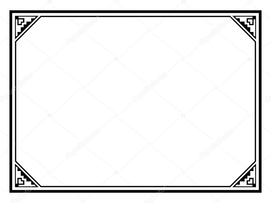 simple black ornamental decorative frame — Stock Vector © 100ker ...