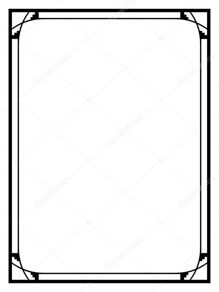 art deco noir ornement cadre d coratif image vectorielle 100ker 82859756. Black Bedroom Furniture Sets. Home Design Ideas