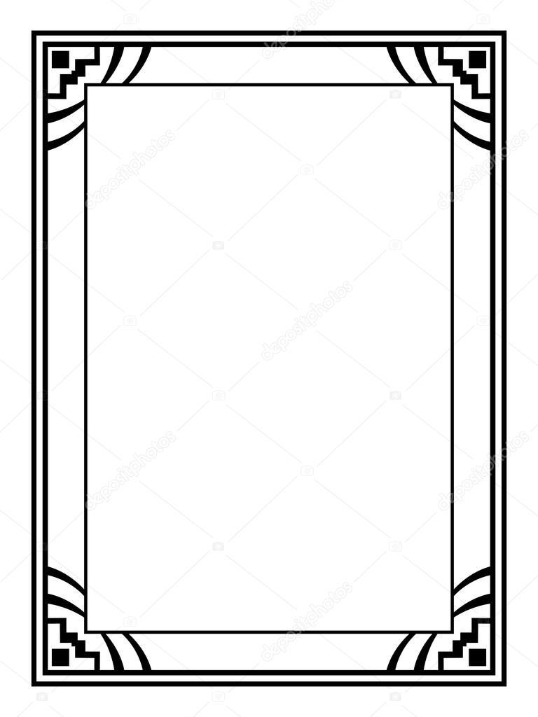 art deco black ornamental decorative frame stock vector 100ker rh depositphotos com art deco vector borders art deco vector frames