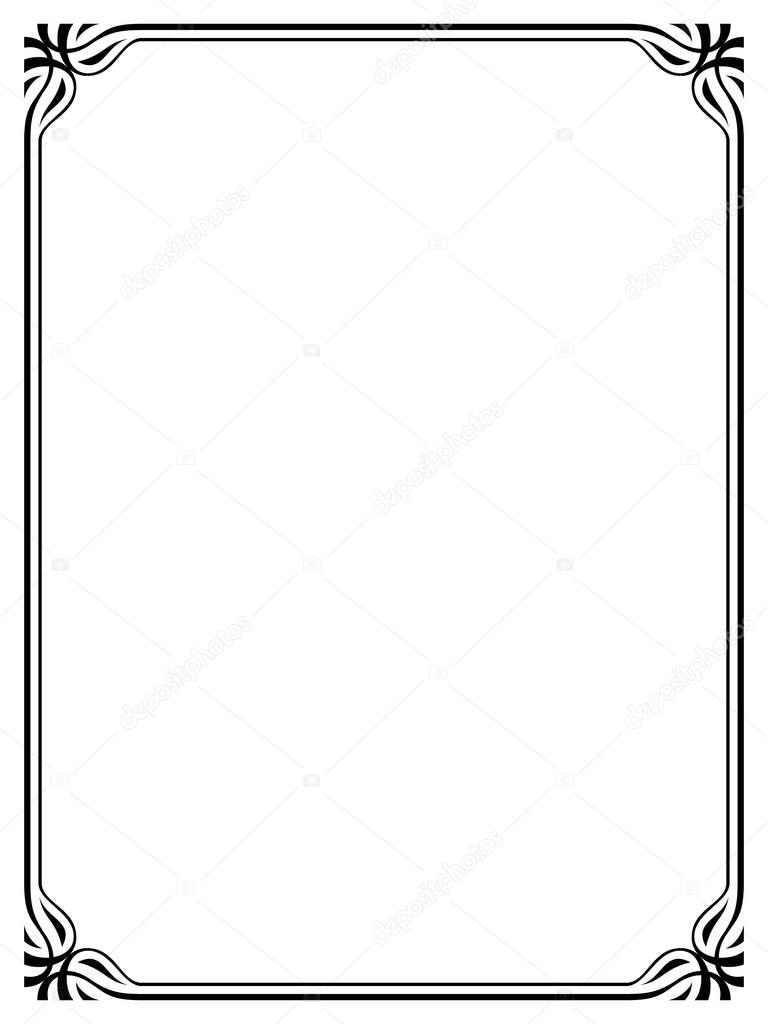 simple black ornamental decorative frame stock vector 100ker