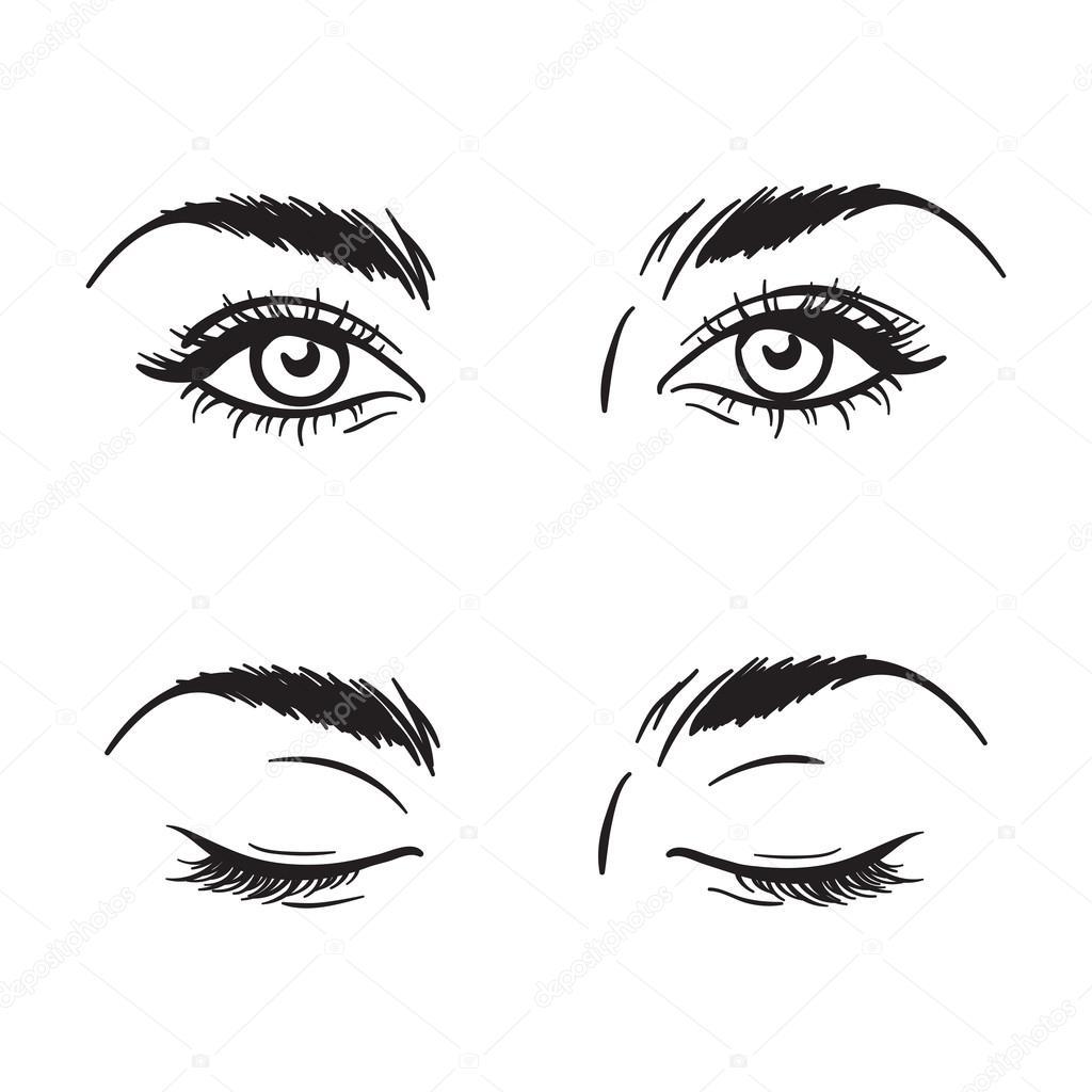 Ojos de mujer hermoso ...
