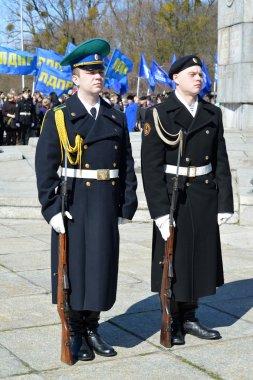 KALININGRAD, RUSSIA - APRIL 09, 2015: A guard of honor on celebr