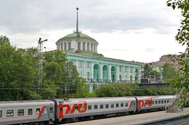 MURMANSK, RUSSIA - JULY 17, 2015: A view of the Murmansk railway