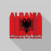 Albania flag typography, t-shirt graphics