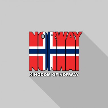 Norway flag typography, t-shirt graphics
