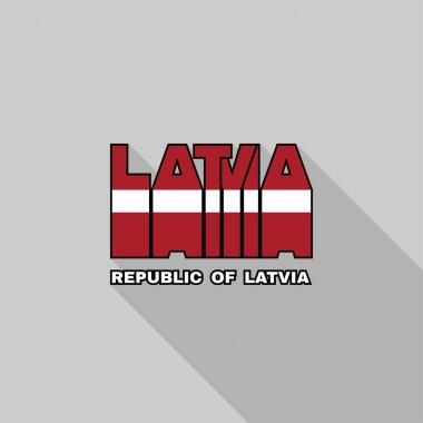 Latvia flag typography, t-shirt graphics