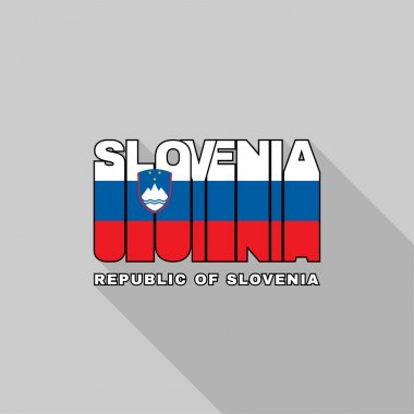 Slovenia flag typography, t-shirt graphics