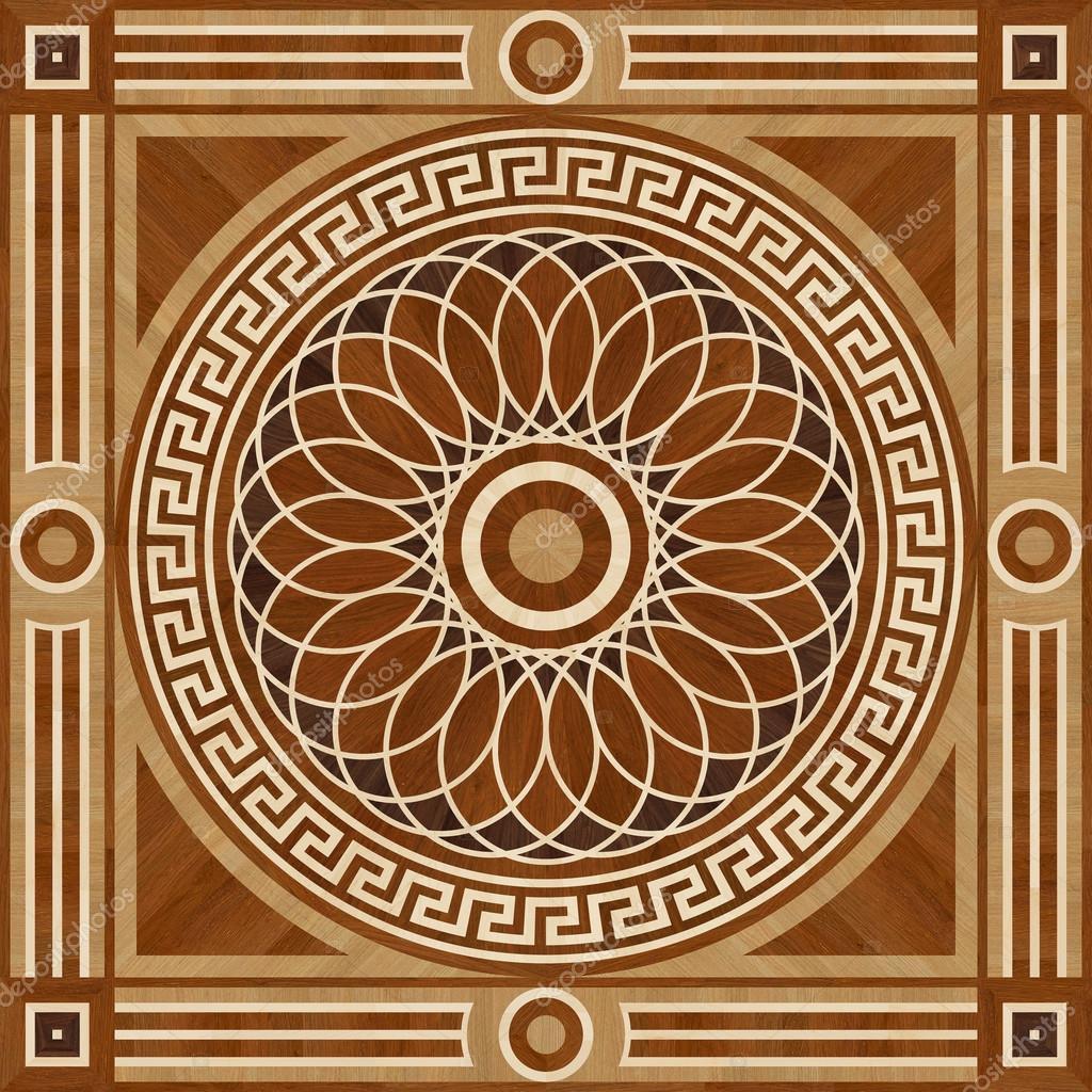 Piso de parquet de dise o medall n madera textura - Disenos de pisos para interiores ...