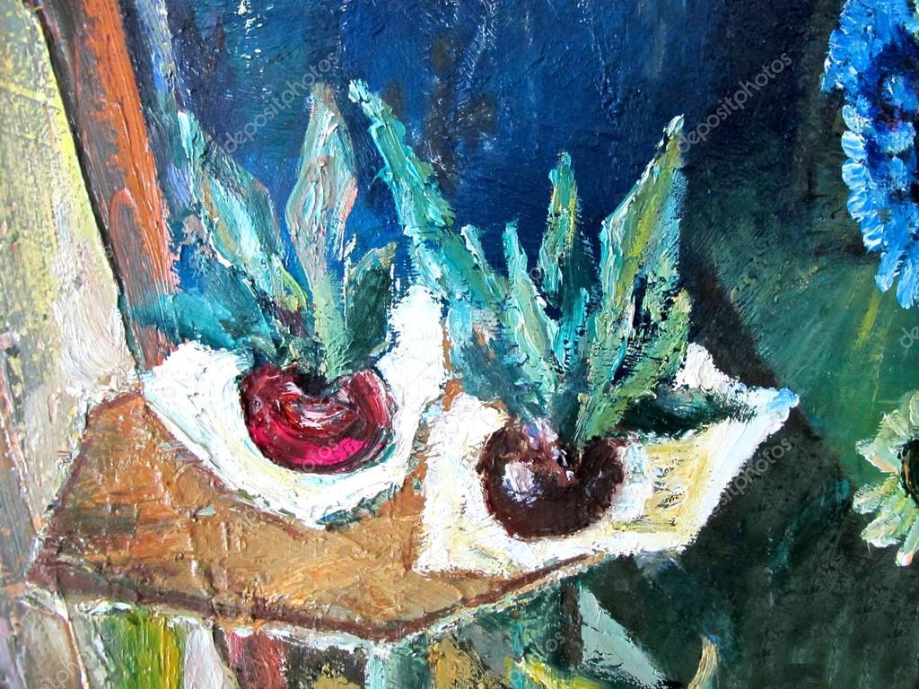 Gemüse auf dem Tisch. Hell farbigen Hintergrund, Fragment der ...