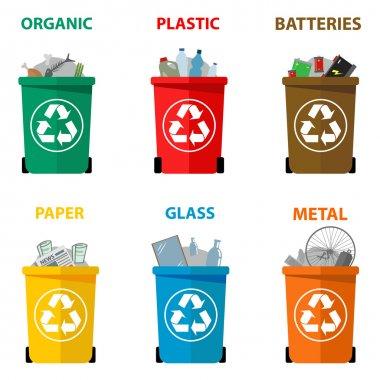 recycle waste bins