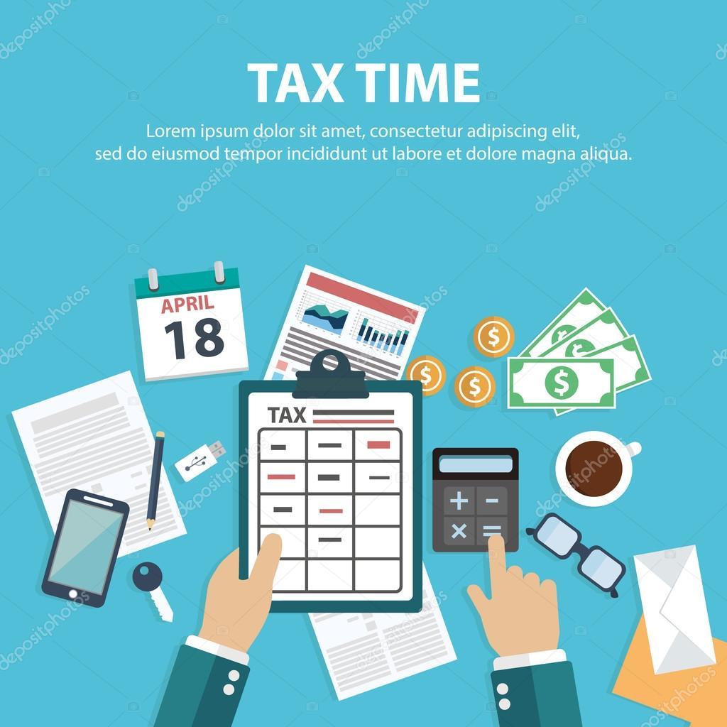 plantilla de pago de impuestos — Vector de stock © royalty #112751356
