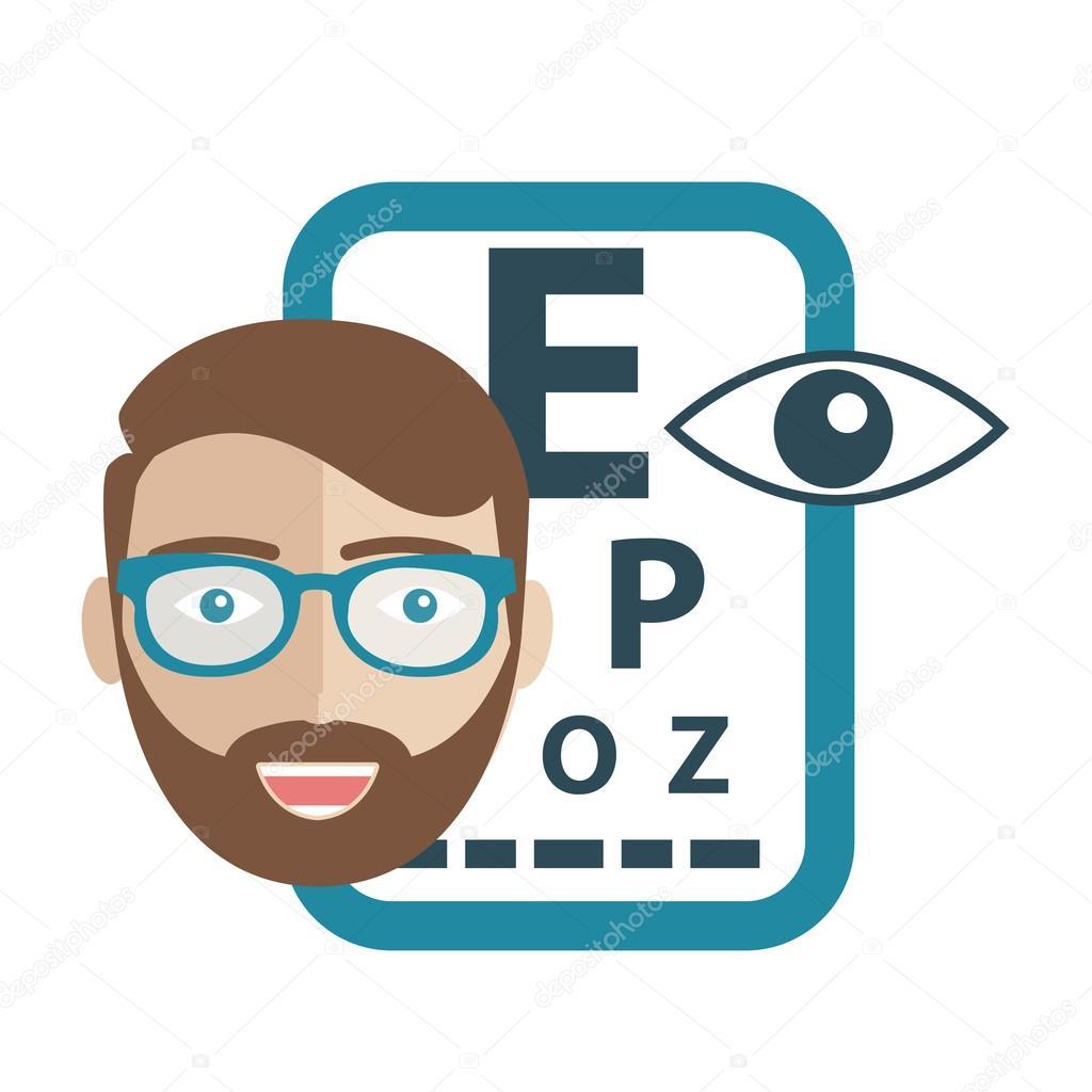 眼科学の概念。目と oculist、矯...