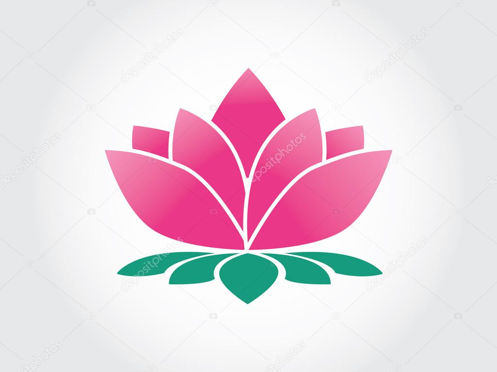 Lotus flower abstract vector logo design template with human doing ...
