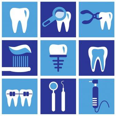 Dental icons, modern design