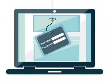 Internet Phishing a login and password concept