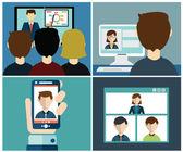 Videokonferenz. Unternehmenskommunikation.