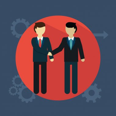 Business people shaking hands, team work, deal