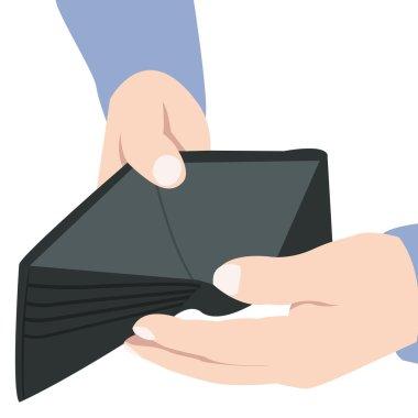 Holding open Empty Wallet
