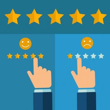 Hand rating on customer service