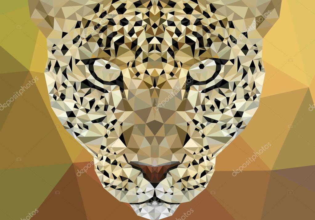 Conceptual Polygonal Jaguar, Cheetah. Abstract Vector