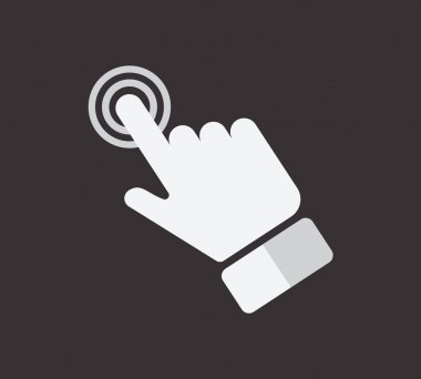 Hand touch icon