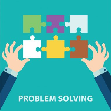 Hands solving puzzle