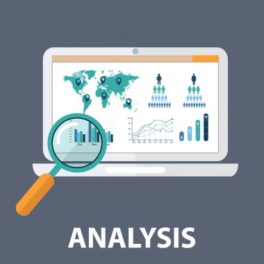 Concept of website analytics search information