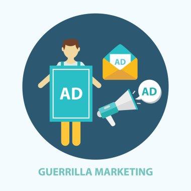 Guerrilla marketing  strategy concept
