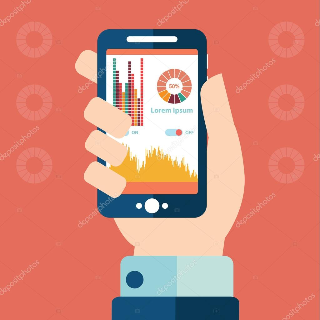 Smartphone infographics concept