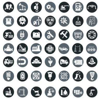 Industry factory icons