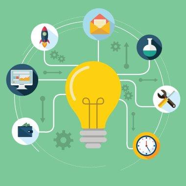 Concept of productive business ideas.