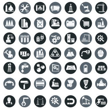 Industry factory icons .