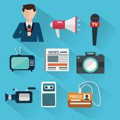 Photo News cast journalism television  concept