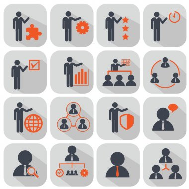 Human resources and management icons