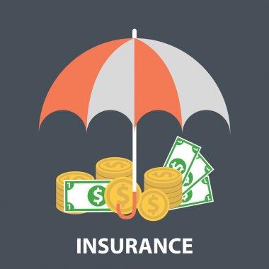 Insurance flat design
