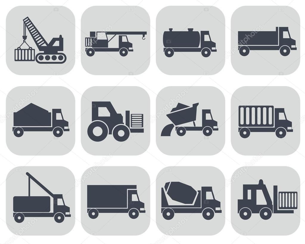 Construction Machinery Icons Stock Vector C Royalty 75824979