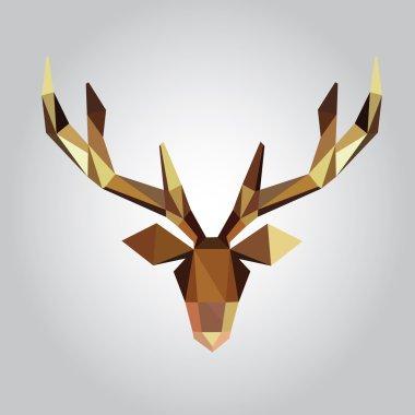 Polygonal deer head