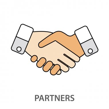 Two business partners agreed a deal